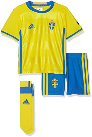 31420558473 Adidas Boy's Sweden Home Mini Tracksuit - Yellow/Bright Royal/Bright  Royal/Yellow. Roll over image to zoom in