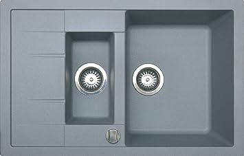 Granit B780 1,5 Schüssel Küche Spüle reversibel mit Zugstangen ...