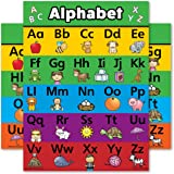 ABC Alphabet Poster Chart - LAMINATED - Double Sided (18 x 24)