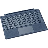 Microsoft Surface Pro Signature Type Cover (Kompatibel mit Surface Pro 6/Pro/Pro 4/Pro 3, LED-Hintergrundbeleuchtung, Qwertz Tastatur) kobalt blau