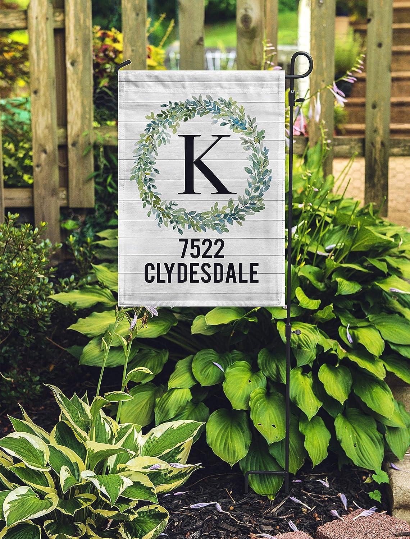 Address Garden Flag - Address Garden Flag Personalized - Spring Garden Flag - Front Door Decor Housewarming Gift - Address Sign for Yard Flag Banner for Fall Patio Lawn Outdoor 12.8 x 18 inch