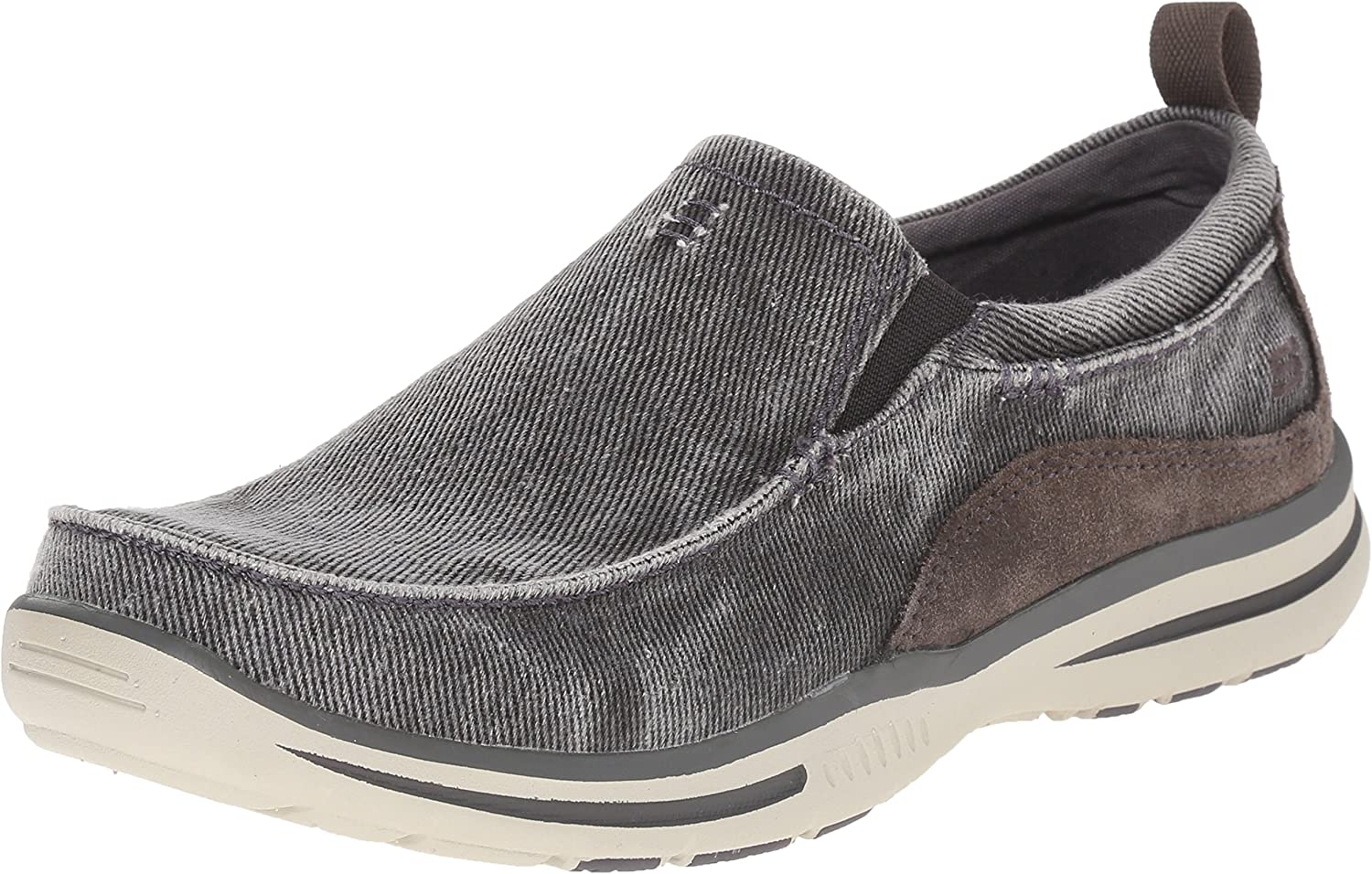 modelo Adolescente Lago taupo  Amazon.com | Skechers Relaxed Fit Men's Elected Drigo Slip-On Loafer Shoes  | Loafers & Slip-Ons