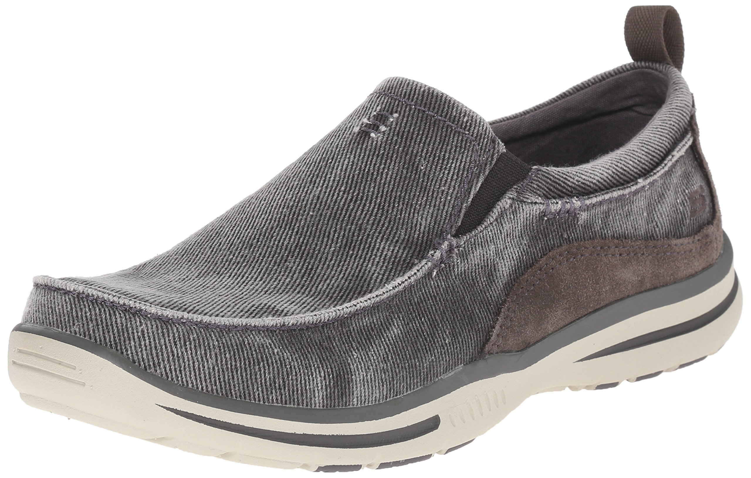Skechers Men's Relaxed Fit Elected Drigo Slip-On Loafer,Charcoal,8 D US