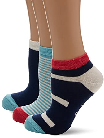 Womens Lshpe272 Socks, Pink (Peach), One Size (Manufacturer Size: 4 to 8) pack of 3 Original Penguin