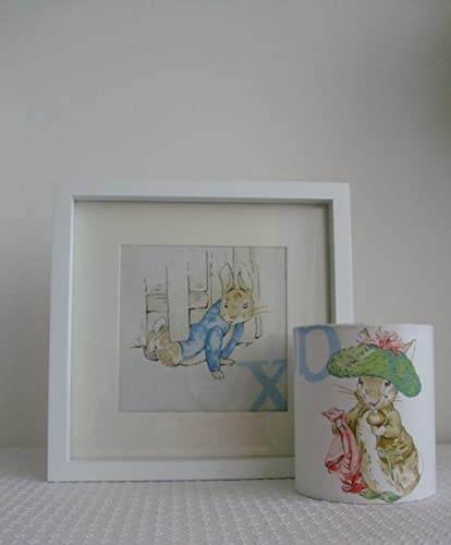 Beatrix Potter Gift Set- Peter Rabbit Nursery Picture and Benjamin Bunny Nursery Night Light.: Amazon.co.uk: Handmade