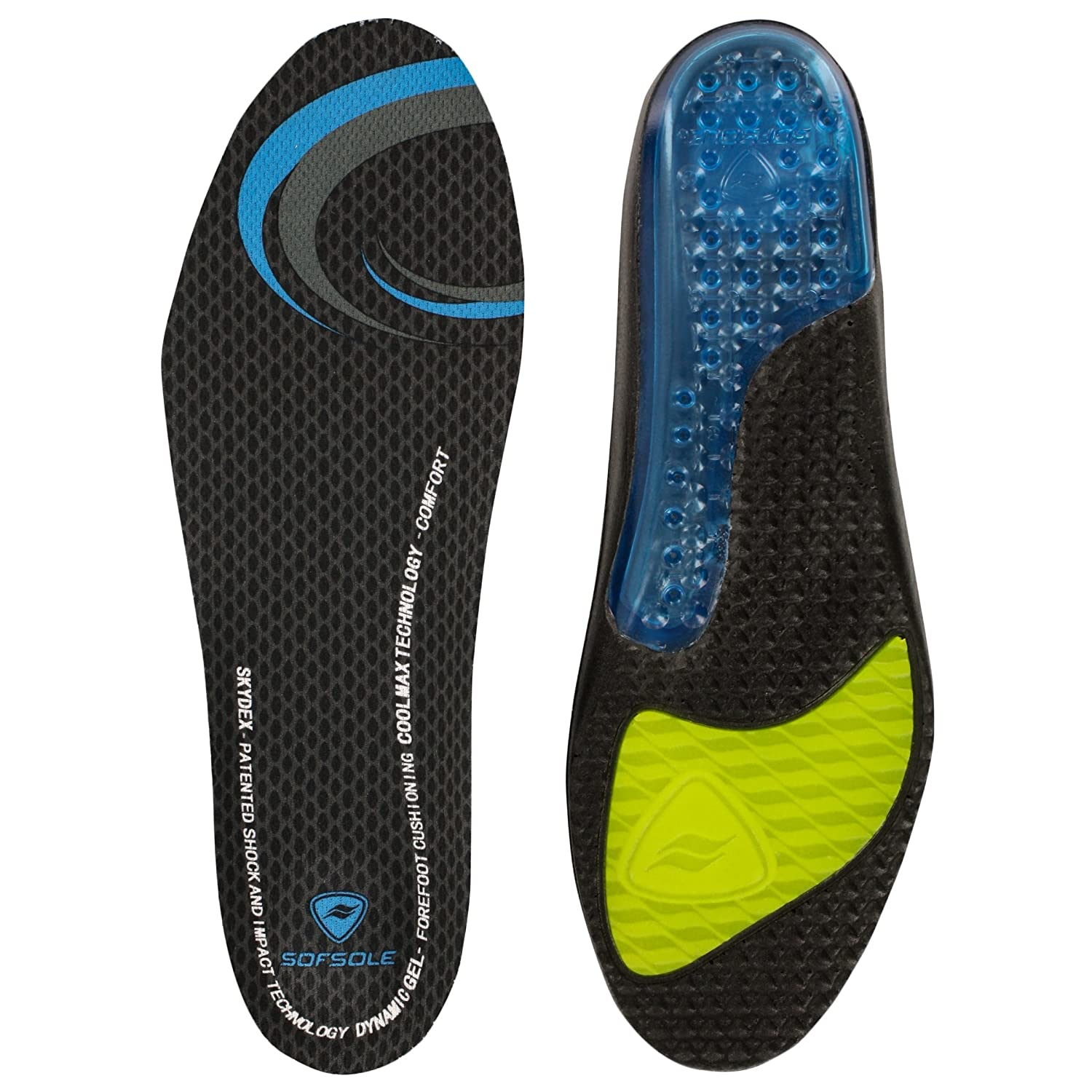 sof sole airr length performance gel shoe insole for