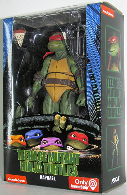 Teenage Mutant Ninja Turtles 90s Movie Raphael 6.5-inch Action Figure by NECA Reel Toys 2019 GameStop Exclusive …