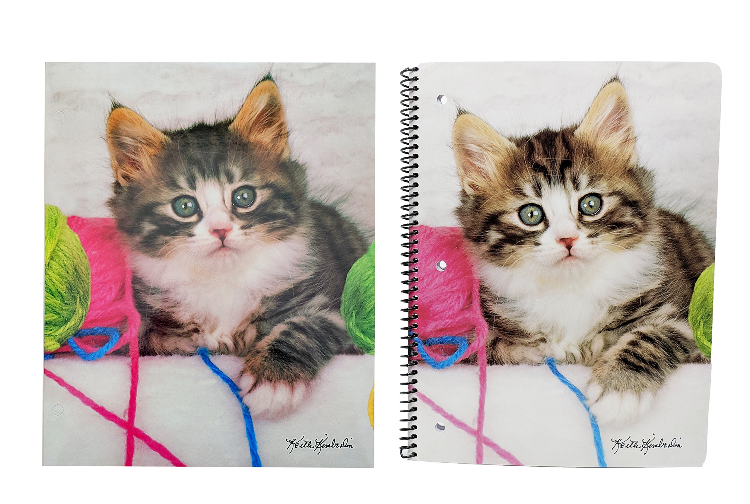 Cute Puppy Or Kitten Back to School Set – Pocket Folder and Composition Notebook (Sweet Kittens)