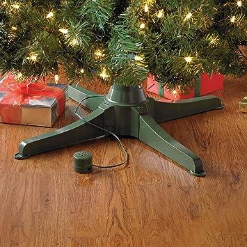 Rotating Christmas Tree Stand.Brylanehome Musical Rotating Christmas Tree Stand Green