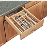 two tier kitchen drawer organizer rev a shelf two tier wood cutlery drawer 8609