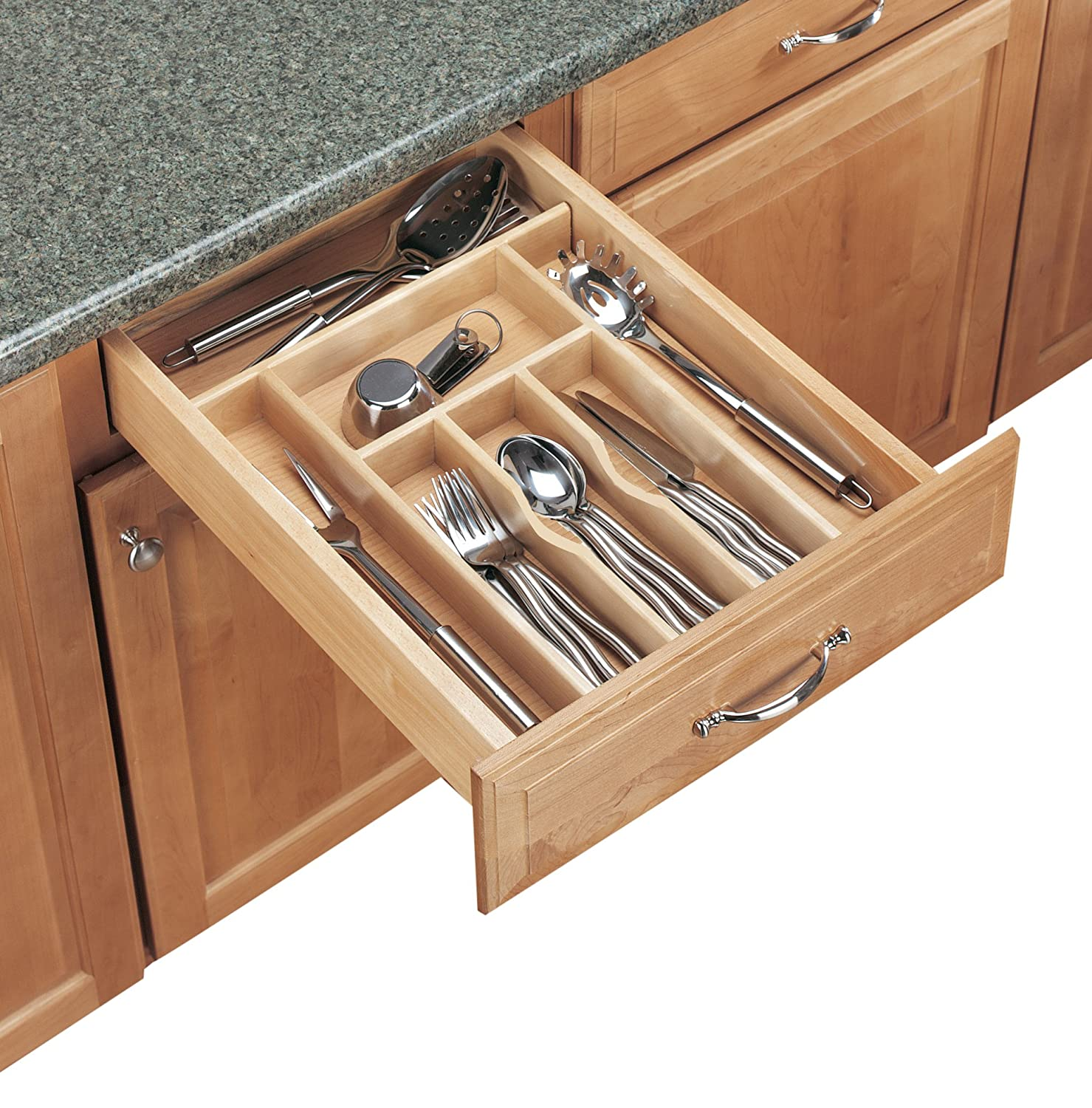 Kitchen Utensil Organizer Drawer Amazon rev a shelf cutlery trim 2 78 x 20 58in wood cutlery amazon rev a shelf cutlery trim 2 78 x 20 58in wood cutlery trays kitchen dining workwithnaturefo