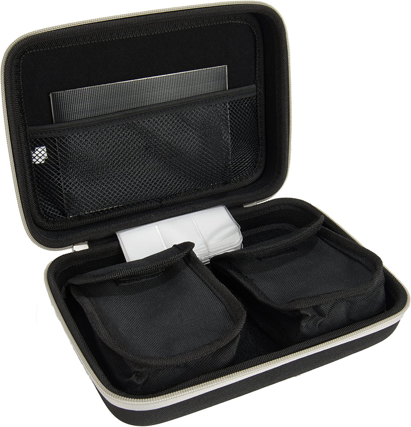 Black, Red Nylon Exterior Carrying Case with Protective Hard Shell for BNISE Binoculars Harlin