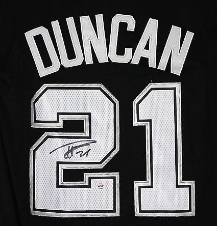 size 40 561ee 8c068 Tim Duncan San Antonio Spurs Signed Autographed Black #21 ...