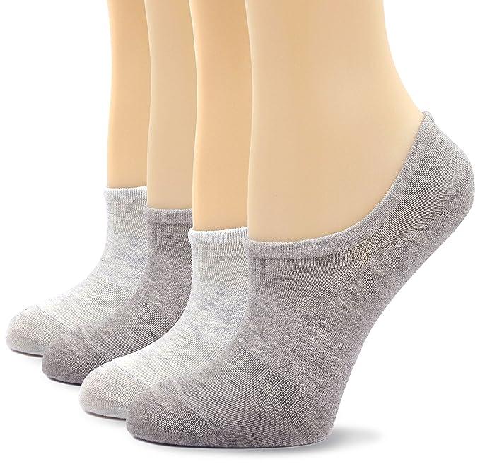 Calcetines de Mujer Cortos Invisible Algodón antideslizantes Calcetines de corte bajo: Amazon.es: Ropa y accesorios