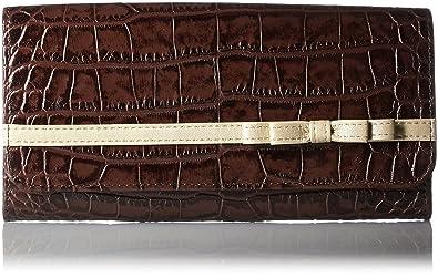 853431ad520d Amazon | [ルエゴ] クロコ型押し リボン長財布 LWCR-01 ブラウン ...