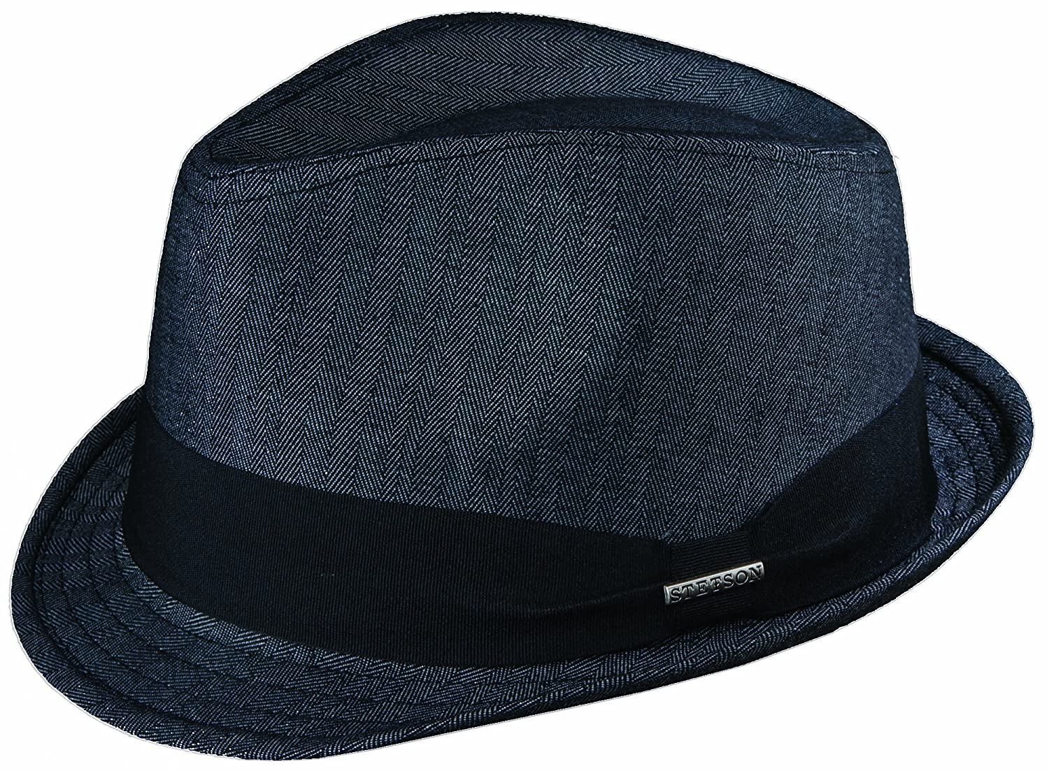 3f8d9f69ce STETSON HERRINGBONE FEDORA WITH STETSON JACQUARD LINNING (L ...