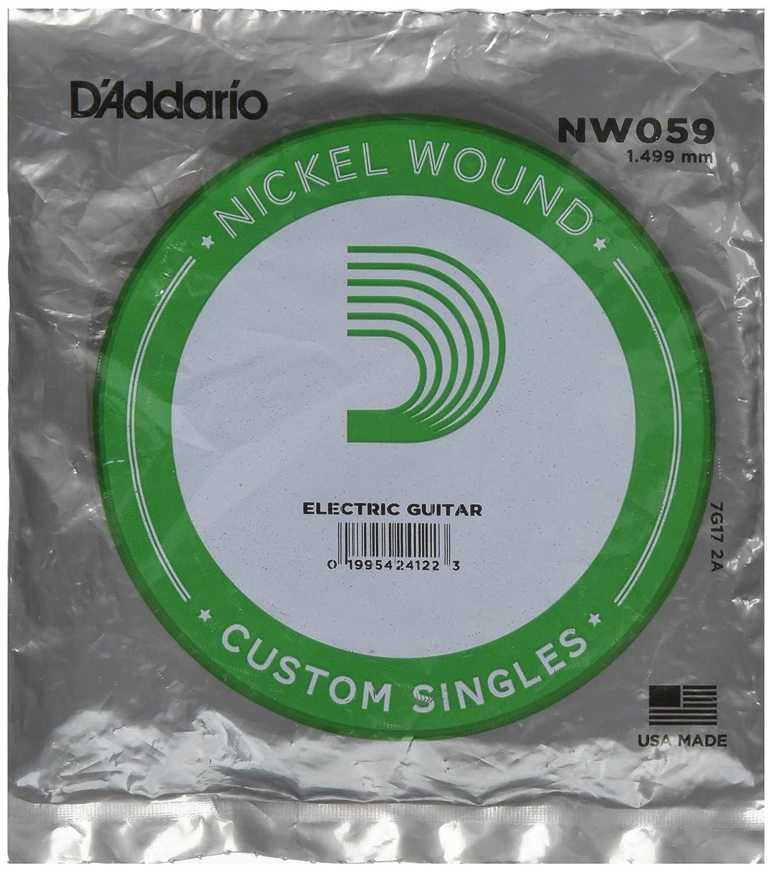 DAddario NW059, cuerda individual con entorchado en níquel para guitarra eléctrica.059: Amazon.es: Instrumentos musicales