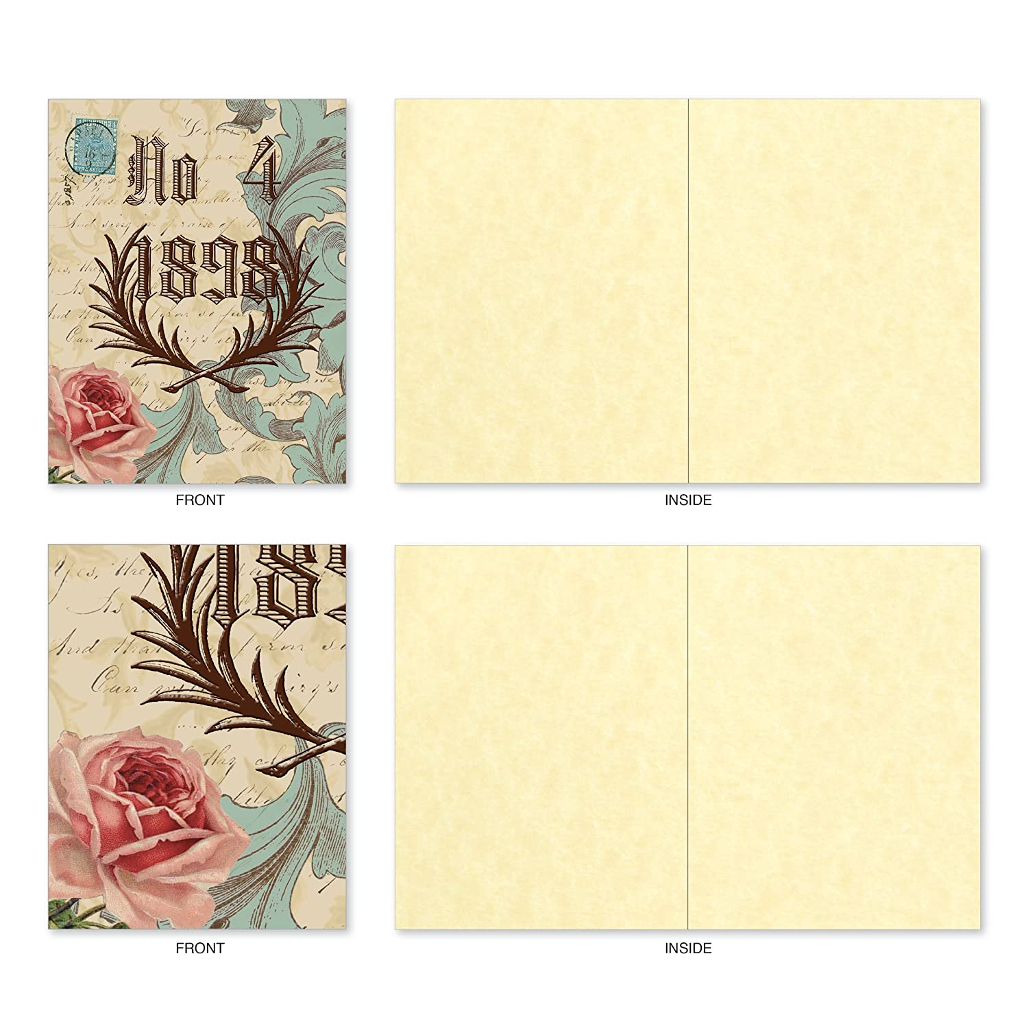 Amazon 10 Note Cards With Envelopes Assorted Victorian