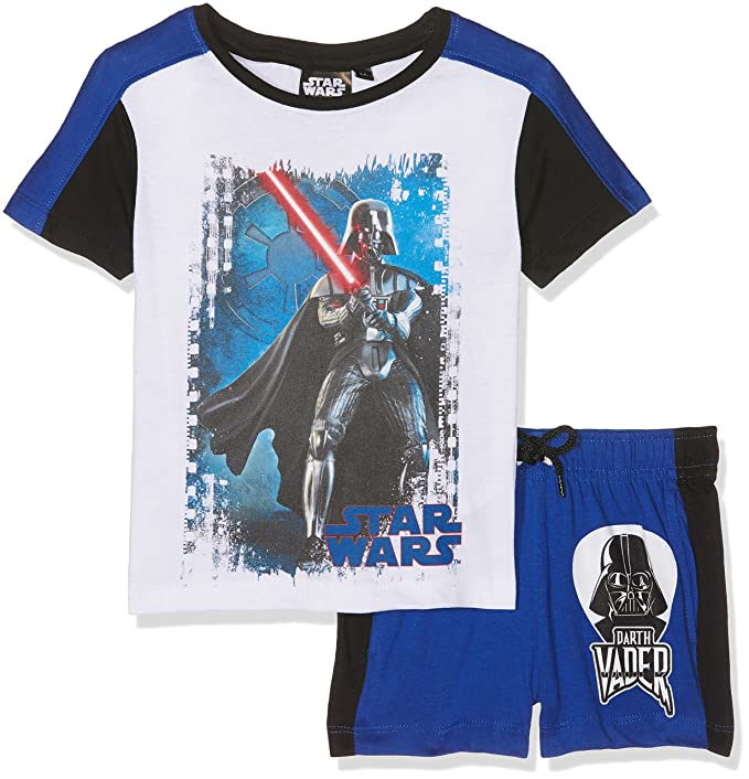 Star Wars Ropa Interior de Deporte para Niños, Azul Blue, 9-10 Años