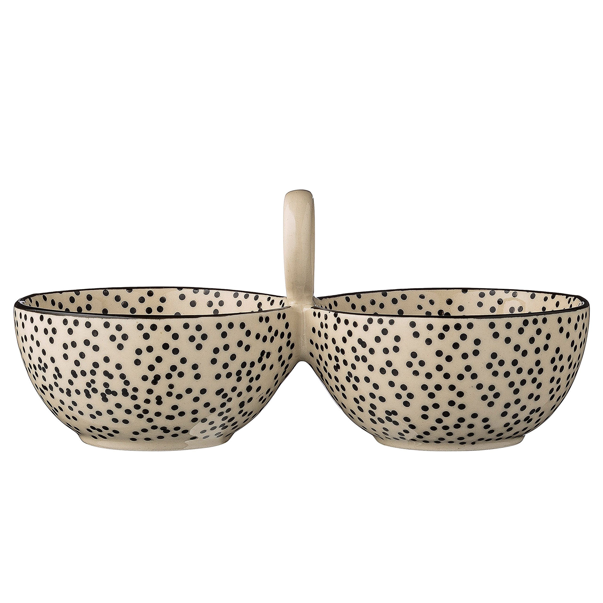 Bloomingville A21100579 Ceramic Julie Double Bowl, Multicolor