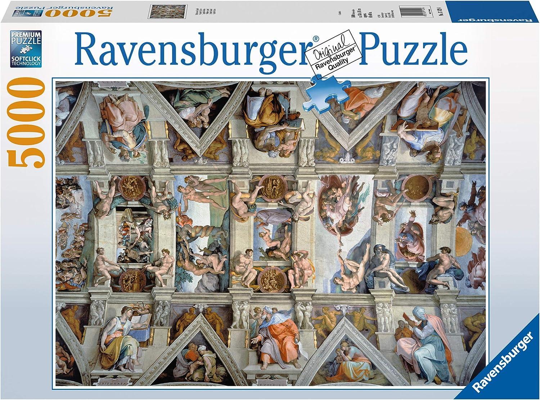 Ravensburger-17429 4 Puzzle 5000 Piezas La Capilla Sixtina, Multicolor (17429 4): Amazon.es: Juguetes y juegos