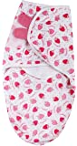 Baby Grow Summer Swaddle 100% Cotton Small/Med Swaddle Adjustable Wrap (Pink Strawberry)