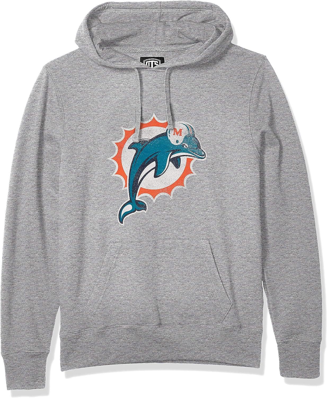 X-Large Distressed Logo OTS NFL Miami Dolphins Mens Fleece Hoodie