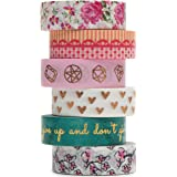 Washi Masking Tape Set, NEW Premium 10-Meter Long Designs, Collection For Creative DIY Crafts, Planners, Scrapbooking & Gift Wrapping | Decorative Masking Tape Suitable For Kids & Adults