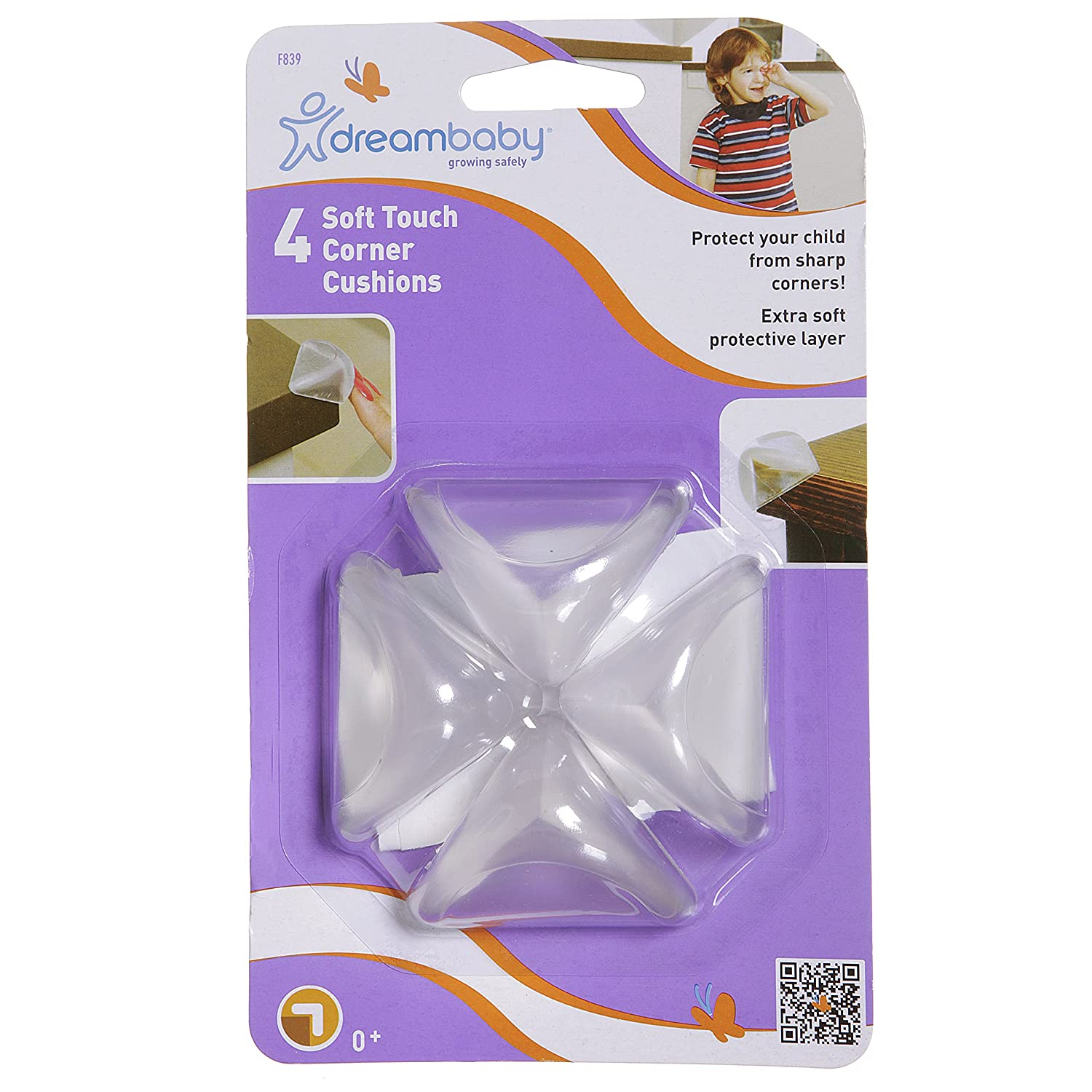 Pack of 4 Dreambaby Soft Touch Corner Cushion