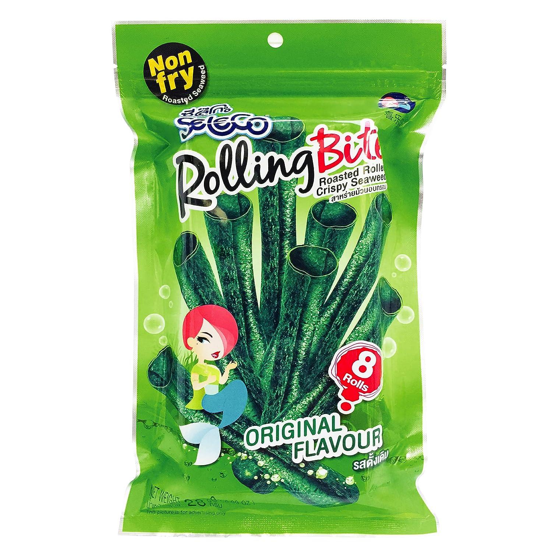 SELECO Seaweed Snacks | Sweet Roasted Rolling Bite Crispy Seaweed (1oz) / Asian Snacks - Korean Snacks - Sushi Nori - Seaweed Chips - Seaweed Snack - Korean Food - Kombu - Healthy Thins (Pack of 1)