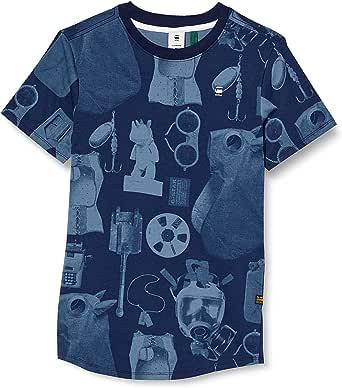 G-STAR RAW Lash Materials Graphic Straight Camiseta para Hombre