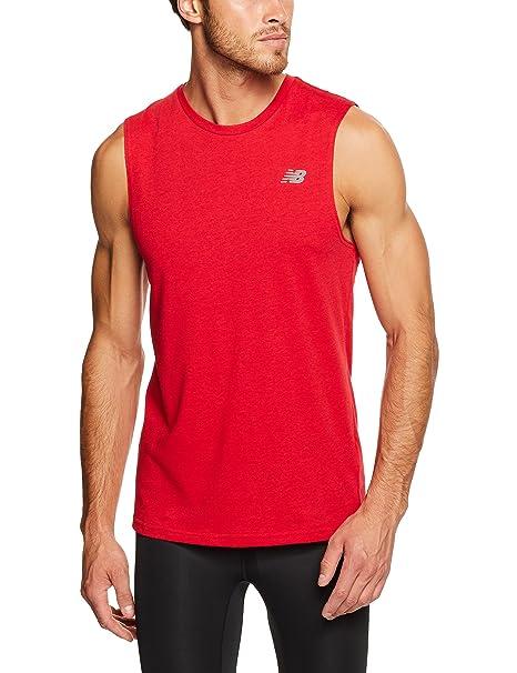 adf2ff04eb3da Amazon.com: New Balance Men's Heather Tech Sleeveless Shirt: Clothing