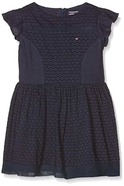 74f61df2b Tommy Hilfiger Girl's Dobby Mix Dress S/S: Amazon.co.uk: Clothing