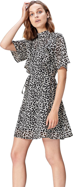 TALLA 36 (Talla del fabricante: X-Small). Marca Amazon - find.  Vestido de Fiesta para Mujer Negro (Black Mpr 279 A) 36 (Talla del fabricante: X-Small)
