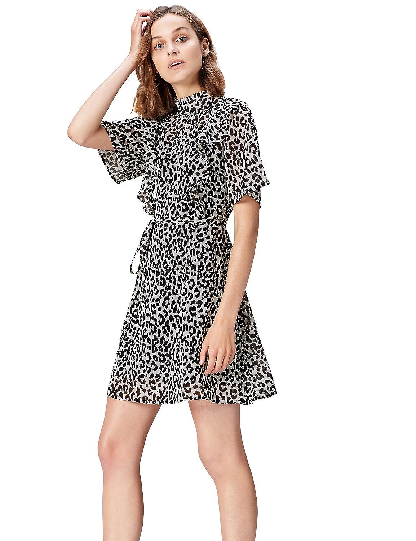 TALLA 40 (Talla del Fabricante: Medium). Marca Amazon - find.  Vestido de Fiesta para Mujer Negro (Black Mpr 279 A) 40 (Talla del fabricante: Medium)