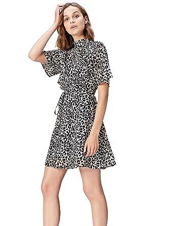 FIND Vestito Corto Maculato Donna  Amazon.it  Abbigliamento 440d2cf01d5