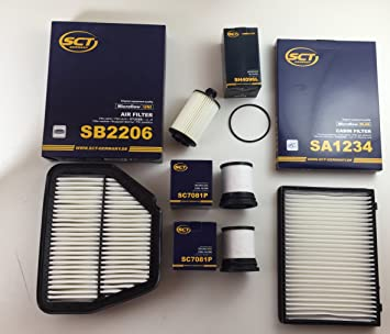 SCT Alemania de aceite Filtro de aire interior filtro 2 x ...