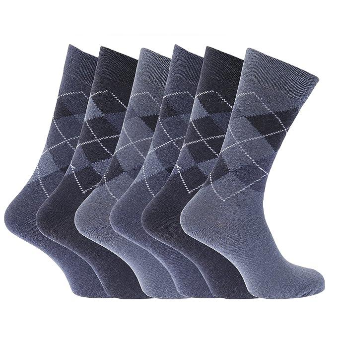 Calcetines con estampado de rombos mezcla de materiales (Pack de 6 pares de calcetines)