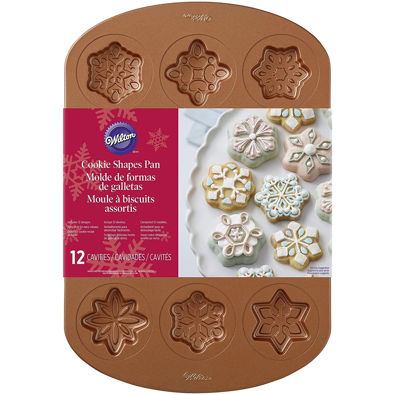 Wilton kupferfarbenem Cookie pan-snowflake 12Mulden Notions Marketing 2105-2502