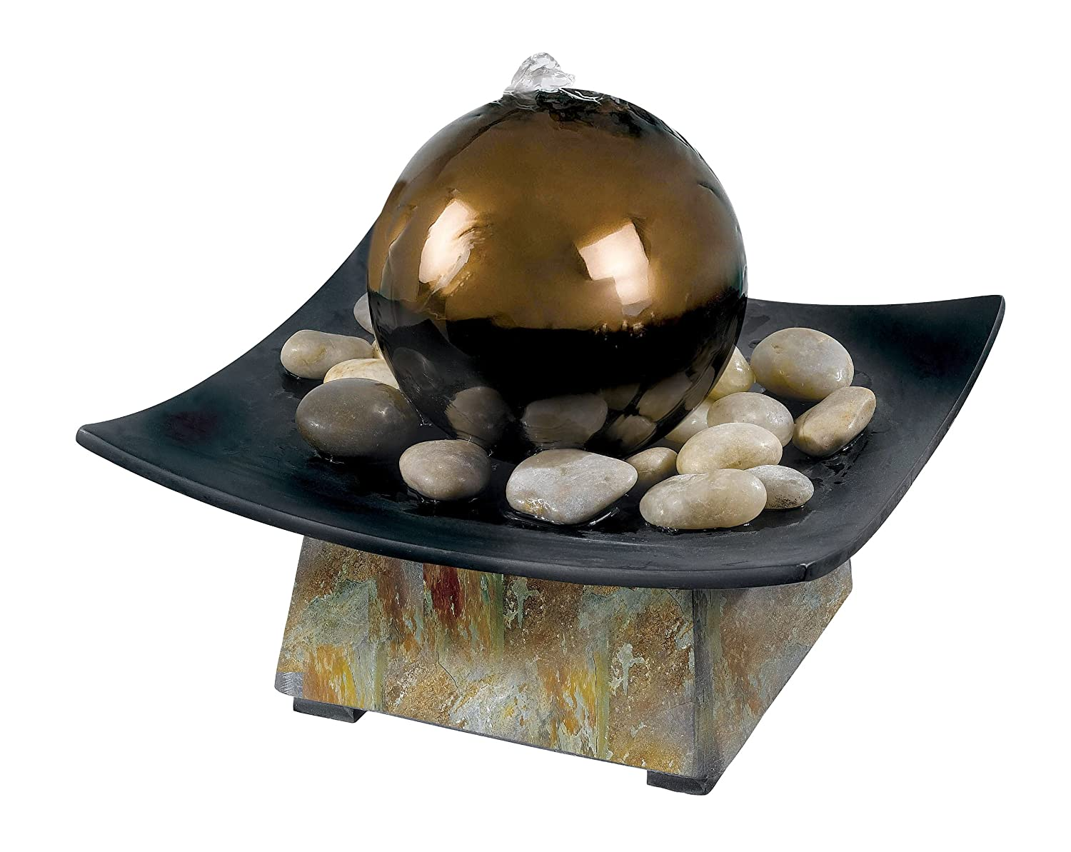Amazon.com : Kenroy Home 50235SL Sphere Indoor Table Fountain ...