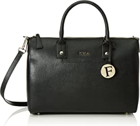 Furla Womens Linda Medium Satchel Saffiano Bag