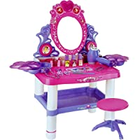 Toyshine Big Size Dressing Table Make up Toy Set with Music, Lights, Accessories to Play