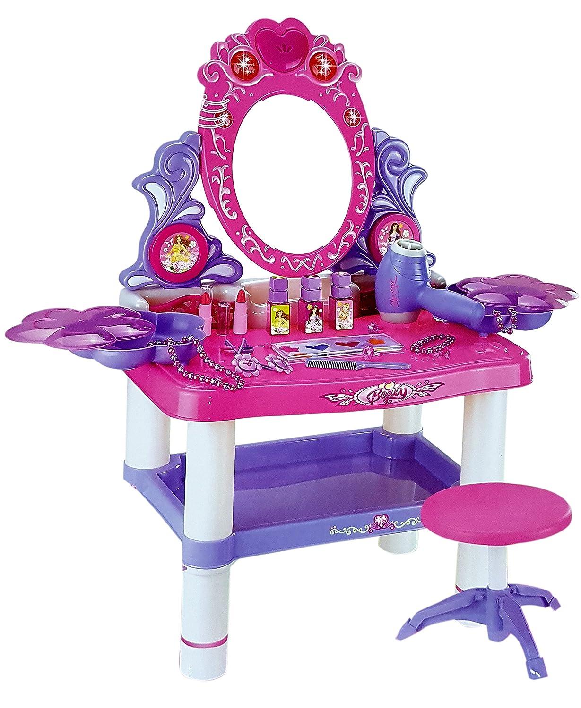 Toyshine Big Size Dressing Table Make Up Toy Set With Music,
