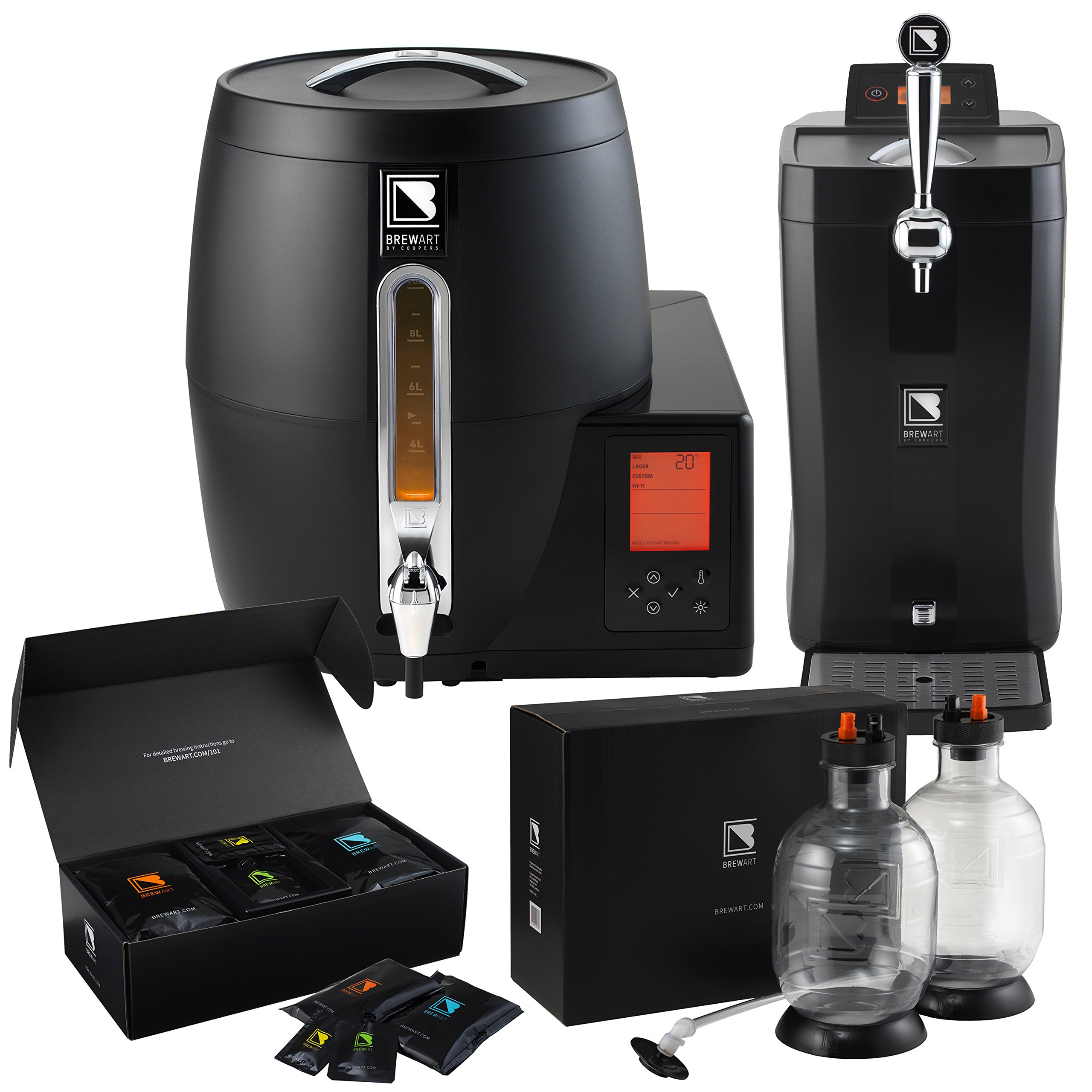 BrewArt Complete Beer Brewing and Dispensing System with BrewPrint and Kegging Pack