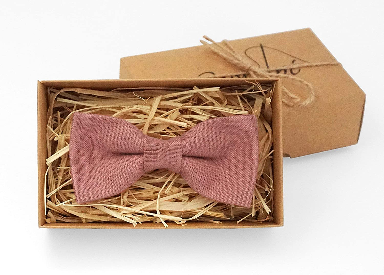 dde1a3f92a67 Cinder rose bow tie Pink tie Pastel pink bow tie Mens neckties linen bow  tie Wedding bow ties boys ties Cinder groomsmen pack Wedding ideas Cinder  ptretied ...