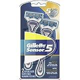 Gillette Sensor5 Men's Disposable Razors, 2 Count, Mens Razors / Blades