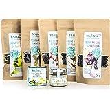 KULAU Bio-Algensalz & getrocknete Bio-Algen - Dulse/Wakame / Nori/Meersalat / Meeresspaghetti - Sea Veggies Probierpaket -