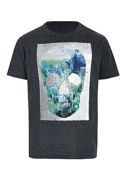 0965e4c79 next Niños Camiseta con Calavera De Lentejuelas Que Cambian De Color (3-16  Años
