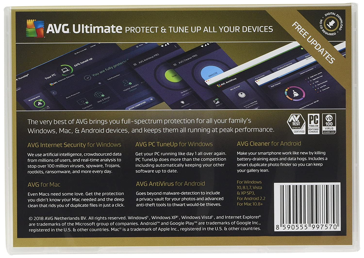 does avg work with windows xp