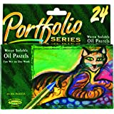 Crayola 52-3624 Portfolio Series Water Soluble Oil Pastels, 24 Count